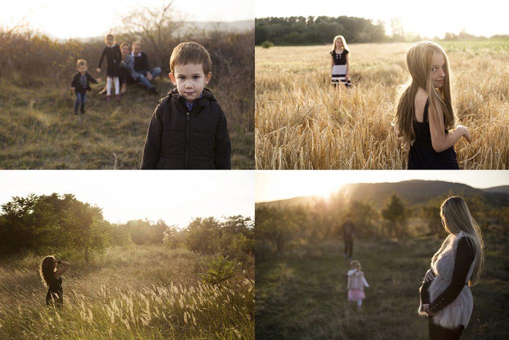 Családfotózás a szabadban, szabadtéri családfotó, Szentendre, gyerekfotó