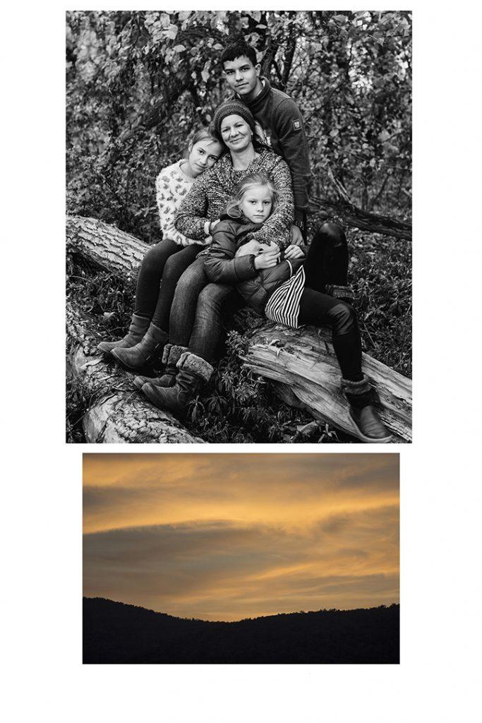 családfotó, anya, gyerekek, szabadtéri fotózás, Duna, Szentendre